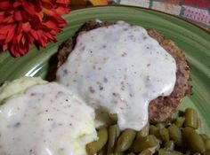 Country Fried Hamburger Steaks With Gravy #justapinchrecipes