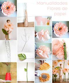 Tips para mujeres: Flores de papel Gigantes