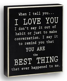 Another great find on #zulily! Black 'When I Tell You' Box Sign by Collins #zulilyfinds