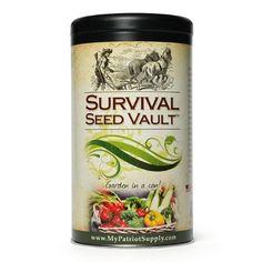 Survival Seed Vault – Heirloom Emergency Survival Seeds