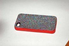glitter cell phone case. seal with modpodge