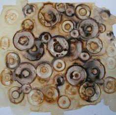 Alice Fox - paper, tea, rust print  from stitchprintweave.blogspot.com