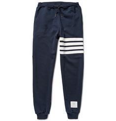 Thom Browne Loopback Cotton-Jersey Sweatpants