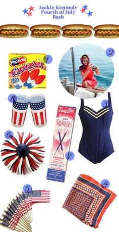 These are great ideas for a retro 4th of July Party! We love all of them! Can't wait for the barbecues, treats, and fireworks :) #july4th #4thofjuly #redwhiteblue #party #ideas #inspiration
