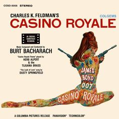 APRIL 1967 YEARS AGO) Various Artists: Casino Royal (OST) is released. Casino Royale is the soundtrack from the movie of the same name by Burt Bacharach, released in April Robert Mcginnis, Soundtrack, Bacharach, James Bond Casino Royale, Herb Alpert, Casino Royale Theme, Dusty Springfield, Lp Cover, Cover Art
