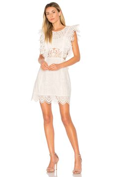 0c6f5968681a Shop for Nightcap Eyelet Apron Mini Dress in White at REVOLVE. Free day  shipping and returns