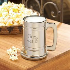 11th Anniversary gift idea Personalized Metal Beer Mug - Husband Anniversary Gift