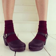 cute socks and clogs are a winner #lottafromstockholm #clogs