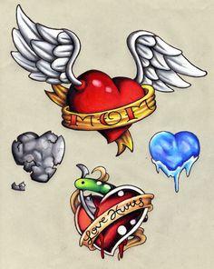 Heart Flash By Silat1 | Heart Tattoo Designs | Home | Tattoo Designs