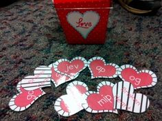 TPT game to buy: Valentine's Nonsense word fluency game