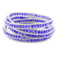 M by Miadora Sterling Silver Crystal White Cord Bracelet, Women's