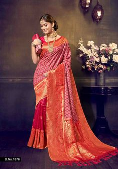 Ranging from simple border and pallu to all-over woven work, we have a wide selection of varied designs, colors, styles and patterns. Check our Banarasi Silk Saree collection now! Party Wear Sarees Online, Bridal Dresses Online, Wear Store, Bridal Dress Design, Indian Ethnic Wear, Saree Collection, Wedding Wear, Silk Sarees, Women's Clothing