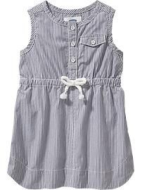 Striped Sleeveless Dresses for Baby