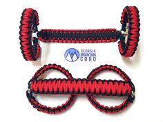 Paracord Front Grab Handles Roll-Bar Mount for Jeep Wrangler JK Imperial Red