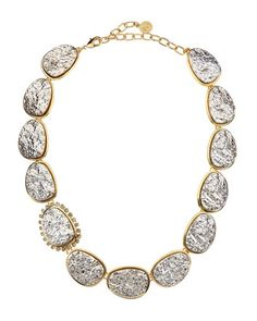 Druzy Necklace, Golden by R.J. Graziano at Last Call by Neiman Marcus.