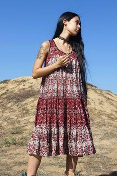 Vintage Indian Cotton Tank Dress