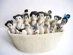 On the lighter side. A basket of ladies.