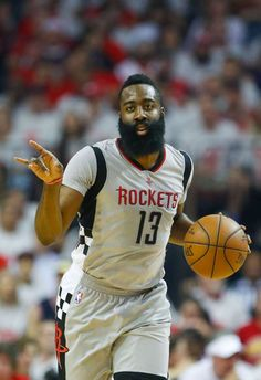 Houston Rockets guard James Harden (13) runs down court during the first half of Game 3 of the second round of the Western Conference NBA playoffs at the Toyota Center, Sunday, May 7, 2017, in Houston. ( Karen Warren / Houston Chronicle ) Photo: Karen Warren/Houston Chronicle