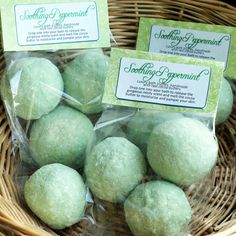 Soothing Peppermint Luxury Cocoa Butter Bath Truffles