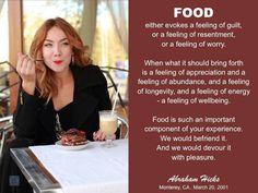 Befriending Food ~ Abraham quote
