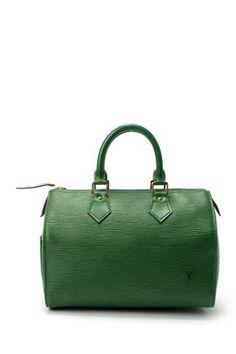 Vintage Louis Vuitton Leather Sdy 25 Satchel Green Handbag Cute Purses