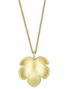 Finn Fig Leaf Pendant Necklace