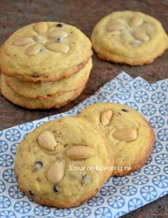 Amandel chocolate chip koekjes - Laura's Bakery