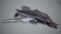 An Aegis Sabre from the video game Star Citizen. This is a game ready asset and uses a conventional Normal Map work flow unlike CIG's custom vertex normals that they use on the actual ship in game. I wanted to use a conventional method for normals to see if it still held up even at this large size. It did have its benefits and its draw backs. for instance i could place normal information anywhere on the ship the down side being texture density.   For Rendering i used Marmoset Toolbag 3 , ...