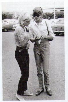Françoise Hardy et Sylvie Vartan