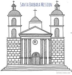California Mission Santa Barbara Coloring Pages See the category to find more printable coloring sheets. Also, you could use the search box to find wh. Dog Coloring Page, Coloring Pages For Kids, Coloring Sheets, Pokemon Coloring Pages, Printable Coloring Pages, Airplane Coloring Pages, Classroom Art Projects, School Projects, School Ideas