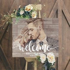 Bridal Shower Welcome Sign, Bridal Shower Signs, Wedding Welcome Signs, Wood Wedding Decorations, Rustic Wedding Signs, Rustic Weddings, Woodland Wedding, Wedding Gifts For Couples, Personalized Wedding Gifts