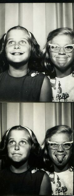 Meg and Lynda. #vintage #photobooth #1960s https://www.facebook.com/pages/Tante-Brocante-en-De-Dames-Van-Dale/110046885761851