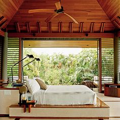 This resort looks so peaceful and fantastic. Def want to sleep in that bed!