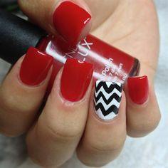 Sexy Red by KariinaObduliia - Nail Art Gallery nailartgallery.nailsmag.com by Nails Magazine www.nailsmag.com #nailart