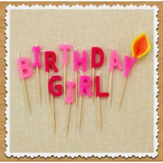 Birthday Girl Candles (($))
