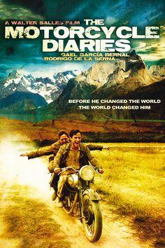 (2004) ~ Gael García Bernal, Rodrigo De la Serna, Mía Maestro. Director: Walter Salles. IMDB: 7.8 + __________________________ https://en.wikipedia.org/wiki/The_Motorcycle_Diaries_%28film%29  http://www.metacritic.com/movie/the-motorcycle-diaries http://www.rottentomatoes.com/m/the_motorcycle_diaries/ http://www.tcm.com/tcmdb/title/452490/Motorcycle-Diaries-The/ http://www.allmovie.com/movie/the-motorcycle-diaries-v291108 http://www.rogerebert.com/reviews/the-motorcycle-diaries-2004