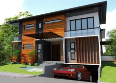 house with basement garage. Underground Garage Small plot house with underground car parking  Great design for a