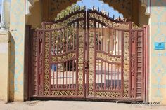 Dwarka   Cast Iron Gate ISKCON Temple, Ahmedabad