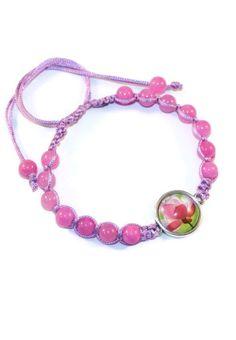 Jade Floral Boho Bracelet Bracelet by MaKatarinaCorner   #bohobracelet , #bohojewelry , #shamballabracelet, #pinkbracelet , #floralbracelet , #jadebracelet   , #macramebracelet, #wrapbracelet