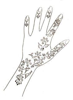 Motifs henné , Motif de dessin - Loisirs créatifs