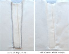 Nicely detailed tut on a shaped Type 1 placket: The Front Placket Tutorial – In-House Patterns