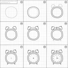Set of clock doodles isolated on white background. Premium vectorSet of clock doodles isolated on white background. Premium vectorTime and clock symbols by Clock Drawings, Easy Doodles Drawings, Easy Doodle Art, Simple Doodles, How To Draw Doodles Easy, How To Doodle, Bullet Journal Ideas Pages, Bullet Journal Inspiration, Planner Inspiration