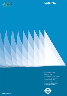 Graphic designer Alan Clarke's minimalistic take on an Olympics sailing poster. Olympic Sailing, Olympic Travel, Alan Clarke, Schrift Tattoos, Creative Review, Cool Posters, Sports Posters, Design Posters, Graphic Posters