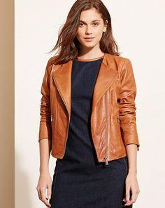Leather Zip-Front Jacket - Lauren Jackets - RalphLauren.com