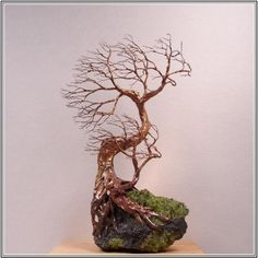 "Visit our website for additional information on ""metal tree wall decor"". It is actually an excellent area for more information. Wire Art Sculpture, Sculpture Lessons, Sculpture Projects, Tree Sculpture, Sculpture Ideas, Wire Sculptures, Bonsai, Metal Tree Wall Art, Metal Art"