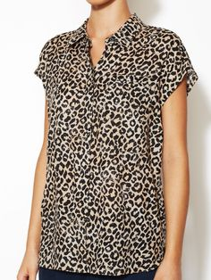 Leopard Print Button Front Shirt  from Bold Prints Feat. Tucker: Up to 80% Off on Gilt