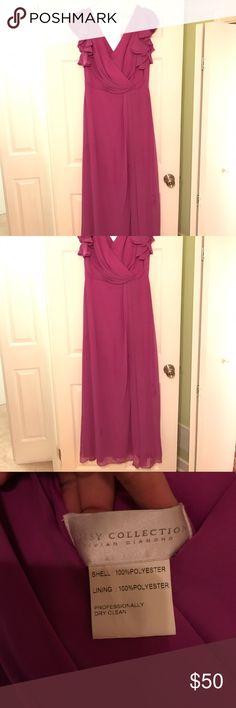 Orchid long dress. Orchid color long flow-y dress. Worn as bridesmaid dress. vivian diamond Dresses Wedding