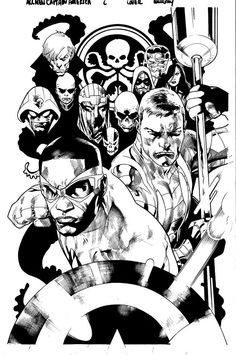 Fanfare :: For Sale Artwork :: All-New Captain America by artist Stuart Immonen Comic Book Pages, Comic Book Artists, Comic Book Covers, Comic Book Characters, Comic Artist, Comic Books Art, Stuart Immonen, Drawing Superheroes, Drawing Sketches