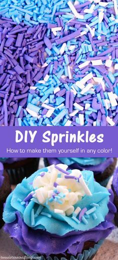 Learn how to make DIY Sprinkles and never use store bought again! So easy, so pretty and they taste better too.  The next time you need just the right color sprinkle, give this recipe a try. You won't be sorry!  Follow us for more great Baking and Decoraing Tips.