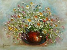 JOANNA DOMAGALSKA4 Art Floral, Palette Knife Painting, Wall Wallpaper, Botanical Prints, Watercolor Flowers, Painting Inspiration, Flower Art, Art Drawings, Glass Art